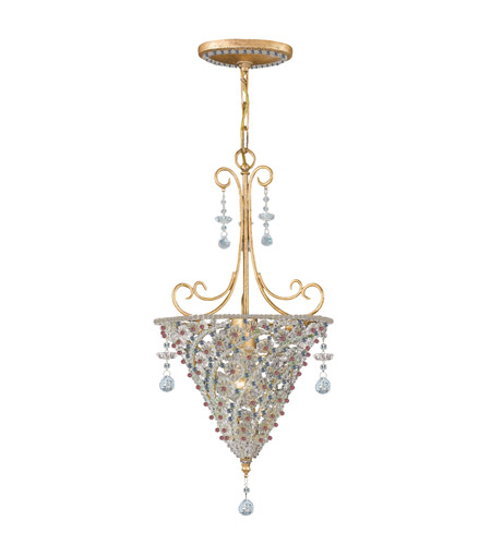 Crystorama Signature 1 Light Pendant in Burnished Gold, Hand Cut 5902-BG-VIOLET photo