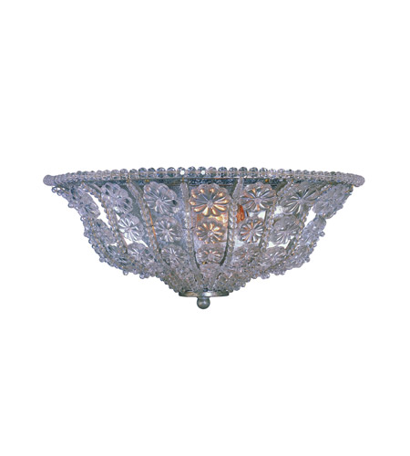 Crystorama Lighting Kingston 2 Light Wall Sconce in Olde Silver & Hand Cut Crystal Beads 5921-OS photo