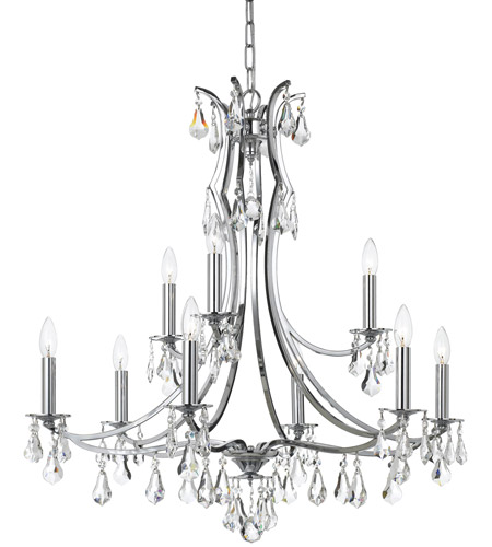Crystorama 5939-CH-CL-S Cedar 9 Light 32 inch Polished Chrome Chandelier Ceiling Light in Clear Swarovski Strass photo