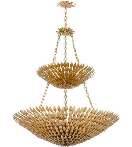 Crystorama 599-GA Broche 18 Light 40 inch Antique Gold Chandelier Ceiling Light in Antique Gold (GA) photo