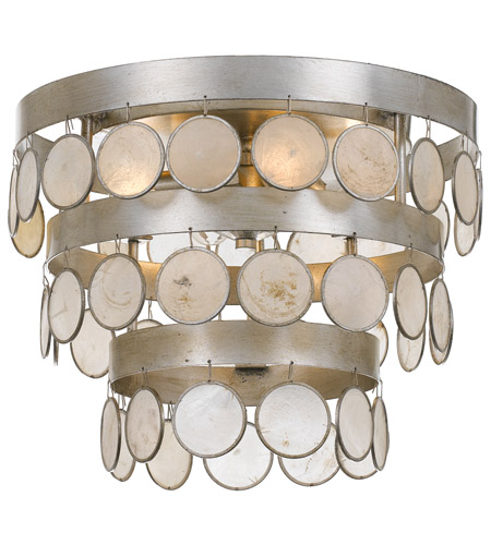 Crystorama 6000 Sa Coco 4 Light 14 Inch Antique Silver Flush Mount Ceiling