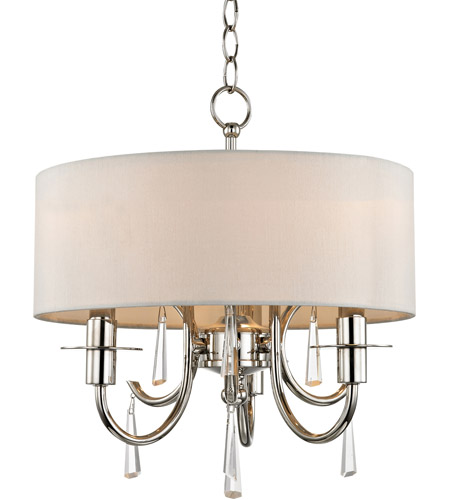 Crystorama 6033-PN-CL-MWP Cody 3 Light 14 inch Polished Nickel Mini Chandelier Ceiling Light photo