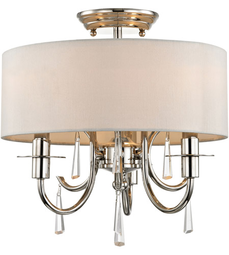 Crystorama 6033-PN-CL-MWP_CEILING Cody 3 Light 14 inch Polished Nickel Semi Flush Mount Ceiling Light photo