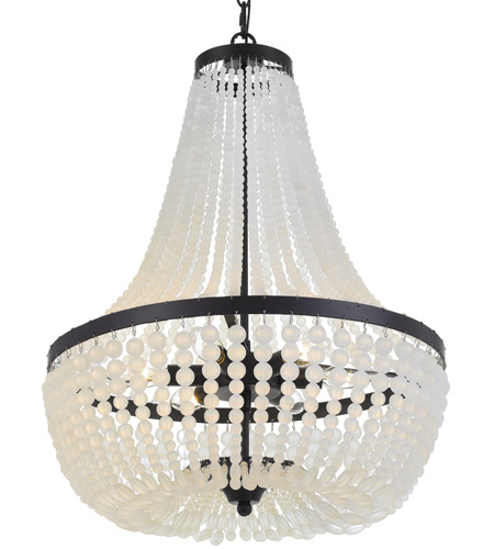 Crystorama 608 MK Rylee 6 Light 18 Inch Matte Black Chandelier Ceiling Photo