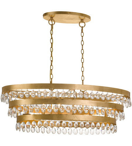 Crystorama 6107-GA Perla 6 Light 36 inch Antique Gold Chandelier Ceiling Light photo