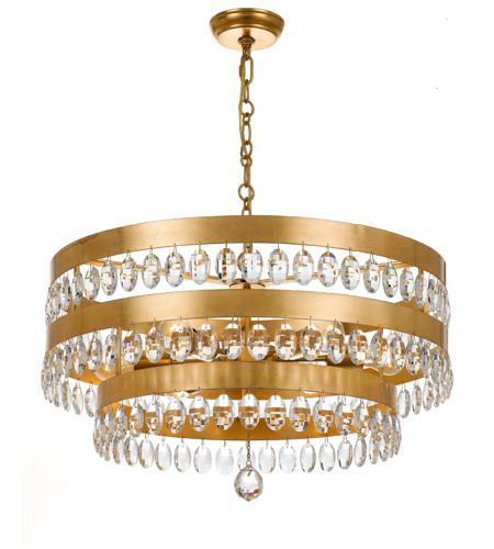 Crystorama 6108-GA Perla 8 Light 26 inch Antique Gold Chandelier Ceiling  Light in Antique Gold (GA), Clear Hand Cut - Crystorama 6108-GA Perla 8 Light 26 Inch Antique Gold Chandelier