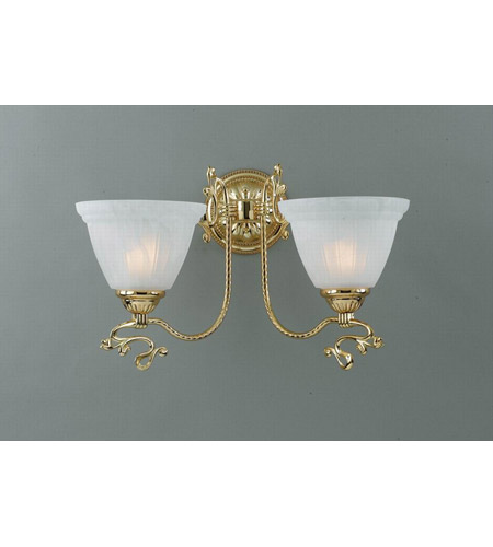Crystorama Lighting Charleston 2 Light Wall Sconce in Gold 6202-GD photo