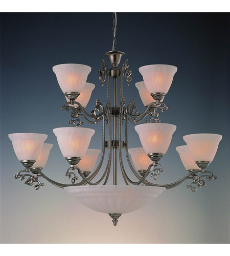 Crystorama Charleston 12 Light Chandelier in Pewter 6209-PW photo