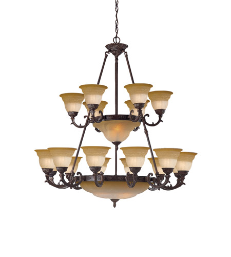 Crystorama Oxford 24 Light Chandelier in Venetian Bronze 6300-42-A-VB photo