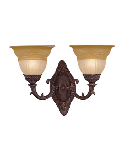 Crystorama Oxford 2 Light Wall Sconce in Venetian Bronze 6302-A-VB photo