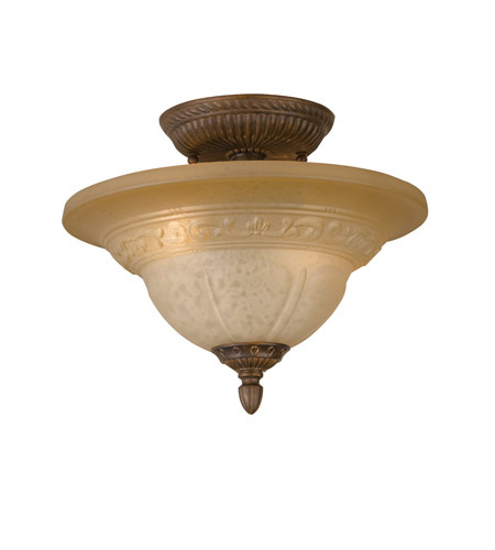 Crystorama Oxford 2 Light Semi-Flush Mount in Venetian Bronze 6303-A-VB photo