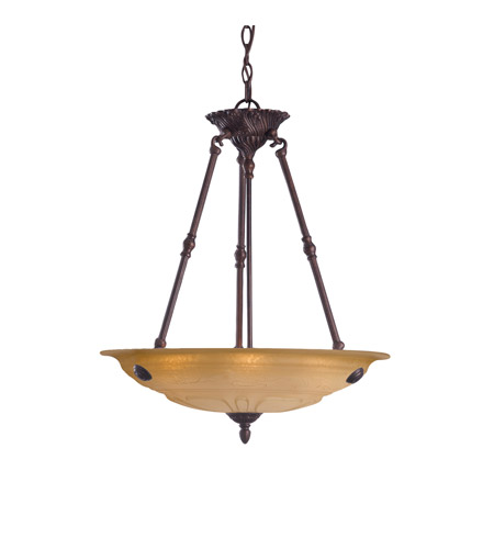 Crystorama Oxford 4 Light Pendant in Venetian Bronze 6304-A-VB photo