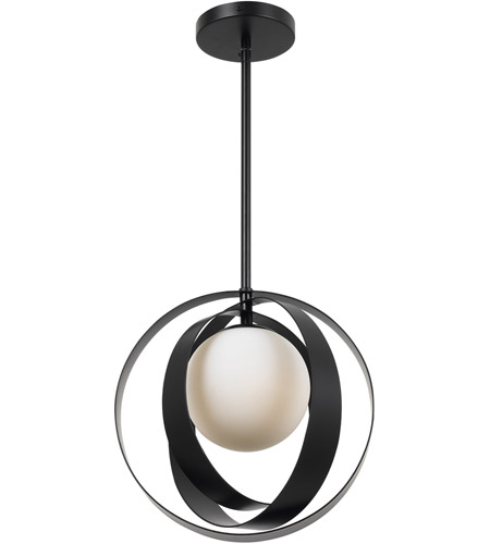 Crystorama 6461-MK Arlo 1 Light 12 inch Matte Black Mini Chandelier Ceiling Light photo
