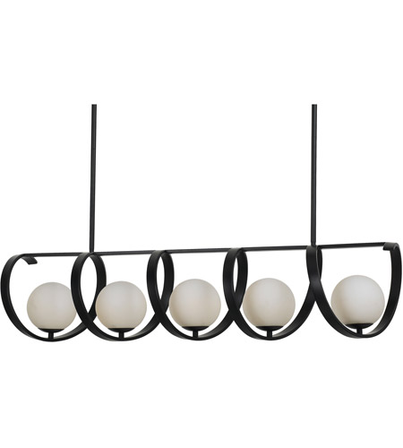 Crystorama 6465-MK Arlo 5 Light 46 inch Matte Black Chandelier Ceiling Light photo