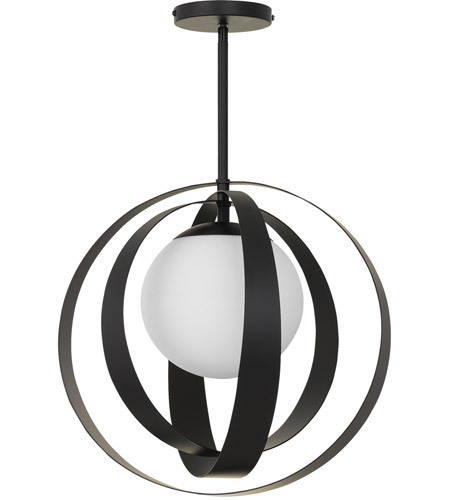 Crystorama 6467-MK Arlo 1 Light 16 inch Matte Black Chandelier Ceiling Light photo