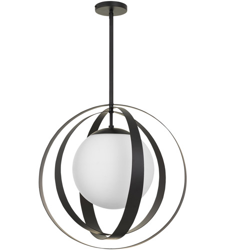 Crystorama 6469-MK Arlo 1 Light 21 inch Matte Black Chandelier Ceiling Light photo