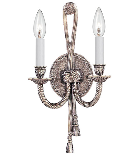 Crystorama Arlington 2 Light Wall Sconce in Pewter 650-PW photo