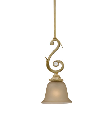 Crystorama 6701-CM Winslow 1 Light 6 inch Champagne Pendant Ceiling Light in Champagne (CM) photo