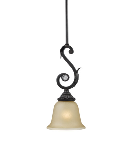 Crystorama 6701-DR Winslow 1 Light 6 inch Dark Rust Pendant Ceiling Light in Dark Rust (DR) photo