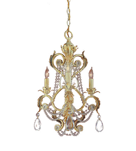 Crystorama Winslow 3 Light Mini Chandelier in Champagne 6703-CM photo