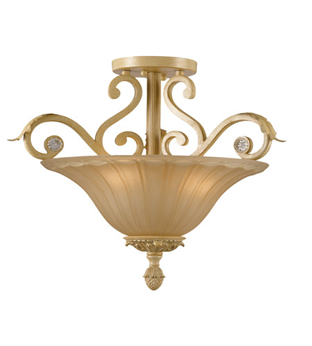 Crystorama Winslow 3 Light Semi-Flush Mount in Champagne 6704-CM photo