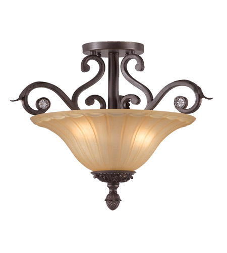 Crystorama Winslow 3 Light Semi-Flush Mount in Dark Rust 6704-DR photo