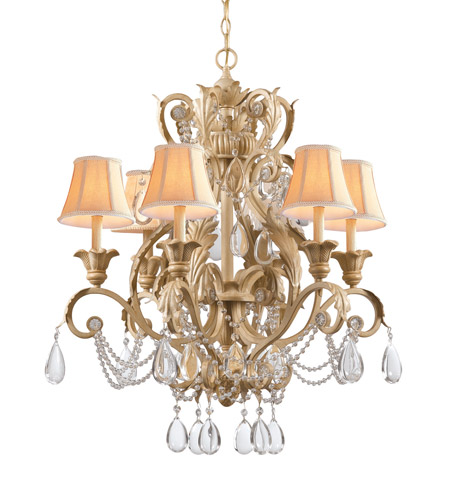 Crystorama Winslow 6 Light Chandelier in Champagne 6706-CM photo
