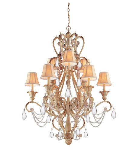 Crystorama Winslow 12 Light Chandelier in Champagne 6709-CM photo