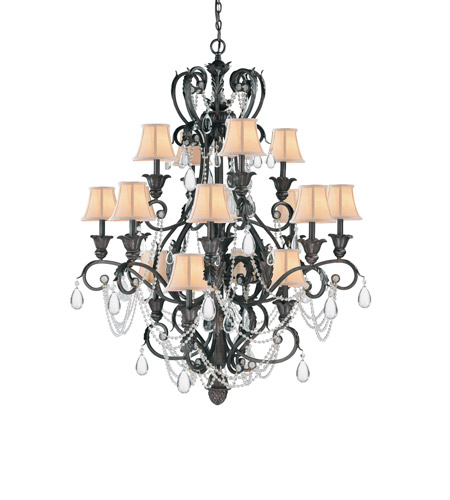 Crystorama Winslow 16 Light Chandelier in Dark Rust 6710-DR photo