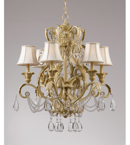 Crystorama Winslow 6 Light Chandelier in Champagne 6716-CM photo