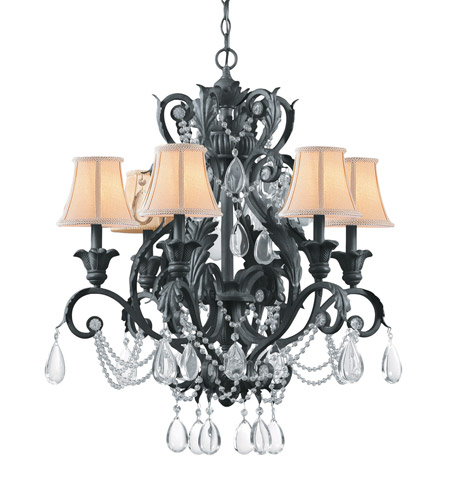 Crystorama Winslow 6 Light Chandelier in Dark Rust 6716-DR photo