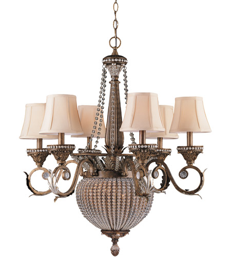 Crystorama 6726-WP Roosevelt 8 Light 28 inch Weathered Patina Chandelier Ceiling Light photo