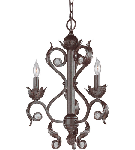 Crystorama Winslow 3 Light Mini Chandelier in Dark Rust 6803-DR photo