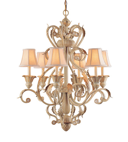 Crystorama Winslow 6 Light Chandelier in Champagne 6806-CM photo