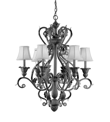 Crystorama Winslow 6 Light Chandelier in Dark Rust 6806-DR photo