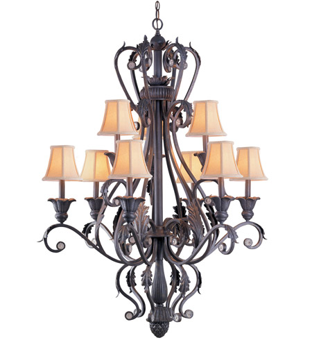 Crystorama Winslow 9 Light Chandelier in Dark Rust 6809-DR photo