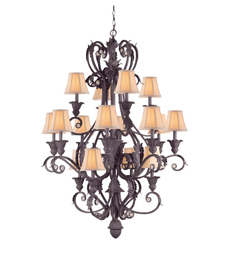 Crystorama Winslow 16 Light Chandelier in Dark Rust 6810-DR photo