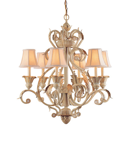 Crystorama Winslow 6 Light Chandelier in Champagne 6816-CM photo