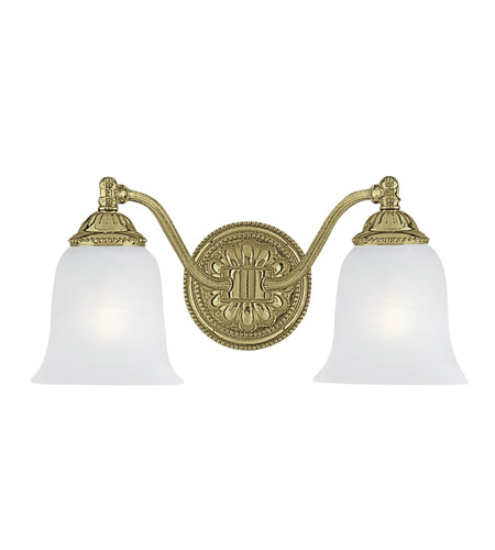 Crystorama Chesapeake 2 Light Vanity Light in Polished Brass 682-PB