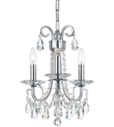 Crystorama 6823 ch cl mwp othello 3 light 13 inch polished chrome crystorama 6823 ch cl mwp othello 3 light 13 inch polished chrome mini chandelier ceiling light in polished chrome ch clear hand cut aloadofball Choice Image