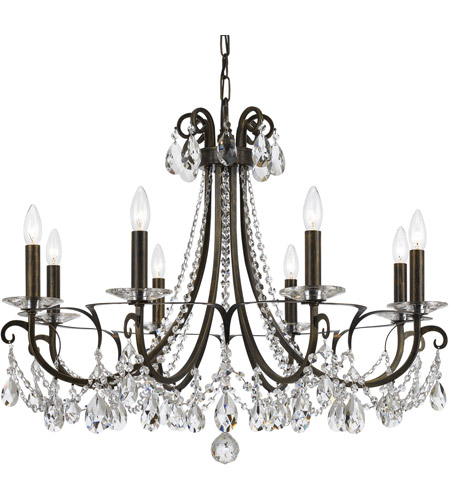 Crystorama 6828 Eb Cl Mwp Othello 8 Light 31 Inch English Bronze Chandelier Ceiling In Clear Hand Cut