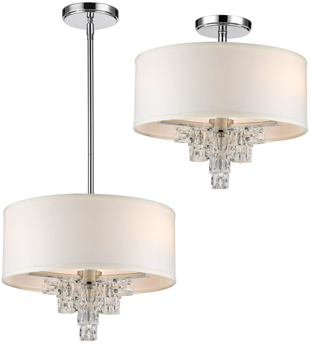 Crystorama 6833-CH Addison 3 Light 16 inch Polished Chrome Mini Chandelier Ceiling Light photo