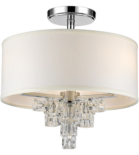 Crystorama 6833-CH_CEILING Addison 3 Light 16 inch Polished Chrome Semi Flush Mount Ceiling Light photo