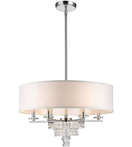 Crystorama 6836-CH Addison 6 Light 25 inch Polished Chrome Chandelier Ceiling Light photo