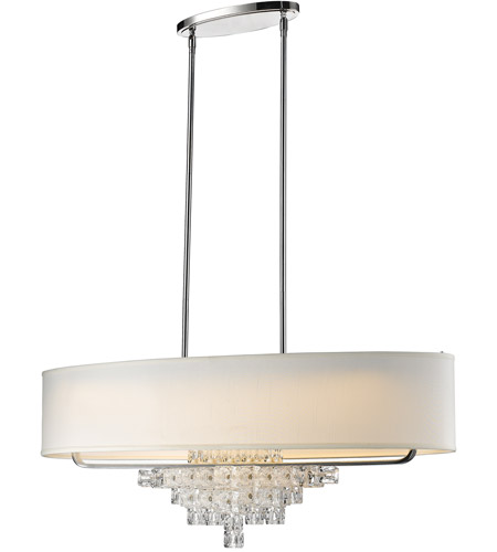 Crystorama 6837-CH Addison 6 Light 42 inch Polished Chrome Chandelier Ceiling Light photo