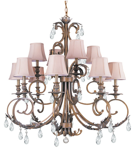 Crystorama Royal 12 Light Chandelier in Florentine Bronze 6909-FB-CL-MWP photo