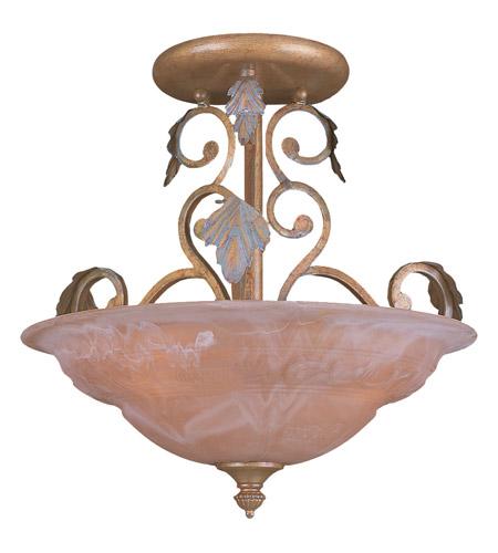Crystorama Lighting Royal 3 Light Semi-Flush Mount in Florentine Bronze 6913-FB photo