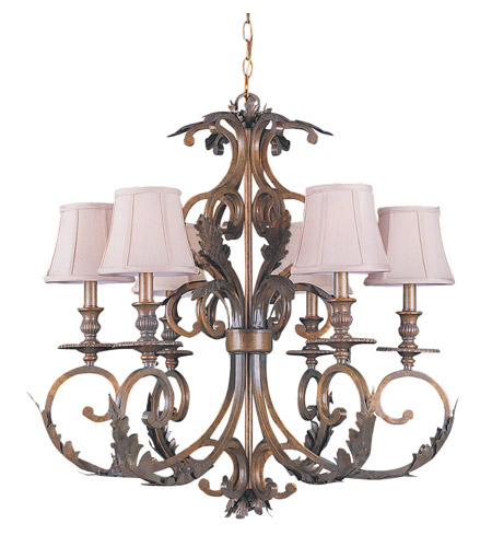 Crystorama Royal 6 Light Chandelier in Florentine Bronze 6916-FB photo