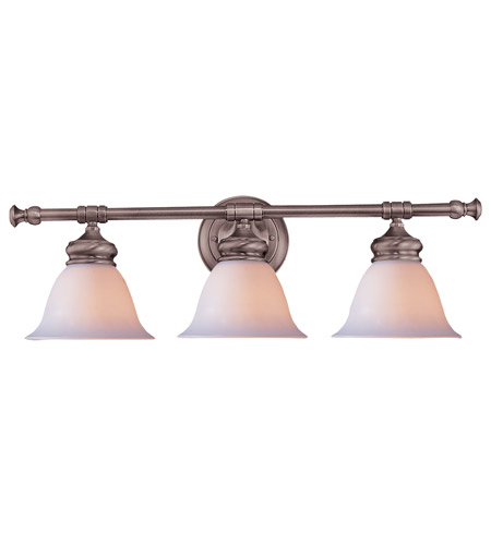 Crystorama Lighting Chesapeake 3 Light Bath Vanity in Satin Nickel 693-SN photo