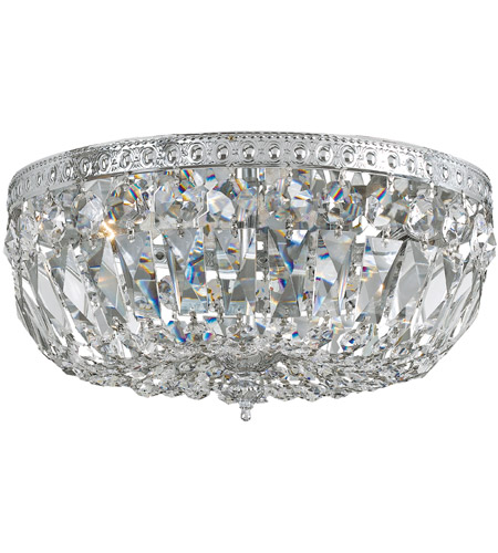 Crystorama 716-CH-CL-S Signature 3 Light 16 inch Polished Chrome Flush Mount Ceiling Light in Polished Chrome (CH), Clear Swarovski Strass photo